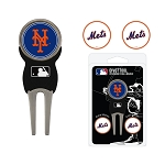 New York Mets Divot Tool Set of 3 Markers Golf Gift