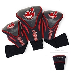 Cleveland Indians MLB Set Of 3 Contour Head Covers Golf Gift