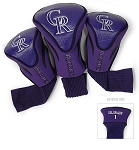 Colorado Rockies MLB Set Of 3 Contour Head Covers Golf Gift