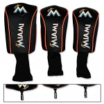 Miami Marlins Mesh Set of 3 Head Covers Golf Gift