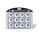 Milwaukee Brewers Dozen Pack Balls Golf Gift