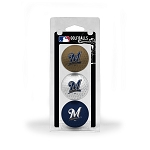 Milwaukee Brewers 3 Ball Clamshell Golf Gift