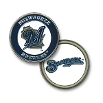 Milwaukee Brewers Double Sided Ball Marker Golf Gift