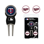 Minnesota Twins Divot Tool Set of 3 Markers Golf Gift