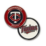 Minnesota Twins Double Sided Ball Marker Golf Gift