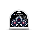 Minnesota Twins MLB Poker Chip Gift Set Golf Gift