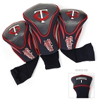 Minnesota Twins MLB Set Of 3 Contour Head Covers Golf Gift