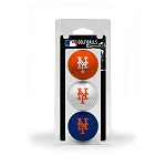 New York Mets 3 Ball Clamshell Golf Gift