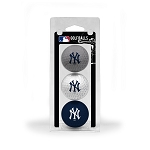 New York Yankees 3 Ball Clamshell Golf Gift