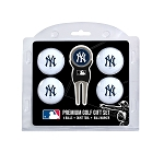 New York Yankees 4 Ball Divot Tool Gift Set Golf Gift