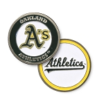 Oakland Athletics Double Sided Ball Marker Golf Gift