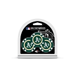 Oakland Athletics MLB Poker Chip Gift Set Golf Gift