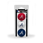 Atlanta Braves 3 Ball Clamshell Golf Gift