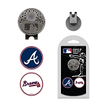 Atlanta Braves 2 Marker Cap Clip Golf Gift