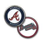 Atlanta Braves Double Sided Ball Marker Golf Gift