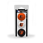 Baltimore Orioles 3 Ball Clamshell Golf Gift