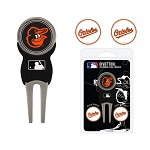 Baltimore Orioles Golf Divot Repair Tool Set with 3 Markers
