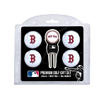 Boston Red Sox 4 Ball Gift Set Golf Gift