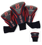 Boston Red Sox MLB Set Of 3 Contour Head Covers Golf Gift
