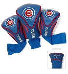 Chicago Cubs MLB Set Of 3 Contour Head Covers Golf Gift