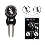 Chicago White Sox Divot Tool Set of 3 Markers Golf Gift