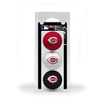 Cincinnati Reds 3 Ball Clamshell Golf Gift