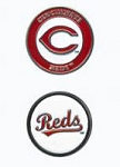 Cincinnati Reds Double Sided Ball Marker Golf Gift