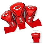 Cincinnati Reds MLB Set Of 3 Contour Head Covers Golf Gift
