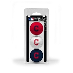 Cleveland Indians 3 Ball Clamshell Golf Gift