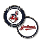 Cleveland Indians Double Sided Ball Marker Golf Gift