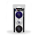 Colorado Rockies 3 Ball Clamshell Golf Gift