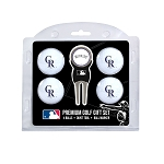 Colorado Rockies 4 Ball Gift Set Golf Gift