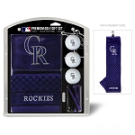 Colorado Rockies Embroidered Gift Set Golf Gift