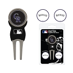 Colorado Rockies Divot Tool Set of 3 Markers Golf Gift