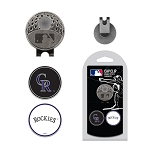 Colorado Rockies 2 Marker Cap Clip Golf Gift
