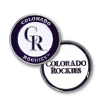 Colorado Rockies Double Sided Ball Marker Golf Gift
