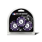 Colorado Rockies MLB Poker Chip Gift Set Golf Gift