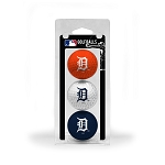 Detroit Tigers 3 Ball Clamshell Golf Gift
