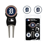 Detroit Tigers Divot Tool Set of 3 Markers Golf Gift