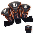 Detroit Tigers MLB Set Of 3 Contour Head Covers Golf Gift