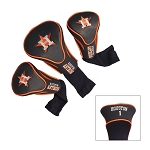 Houston Astros Set of 3 Contour Head Covers Golf Gift