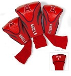 Los Angeles Angels MLB Set Of 3 Contour Head Covers Golf Gift