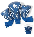 Los Angeles Dodgers MLB Set Of 3 Contour Head Covers Golf Gift