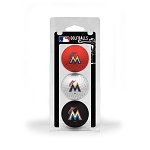 Miami Marlins 3 Ball Clamshell Golf Gift