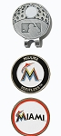 Miami Marlins 2 Marker Cap Clip Golf Gift
