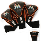 Miami Marlins MLB Set Of 3 Contour Head Covers Golf Gift