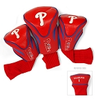 Philadelphia Phillies MLB Set Of 3 Contour Head Covers Golf Gift