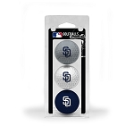 San Diego Padres 3 Ball Clamshell Golf Gift