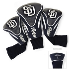San Diego Padres MLB Set Of 3 Contour Head Covers Golf Gift