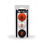 San Francisco Giants 3 Ball Clamshell Golf Gift